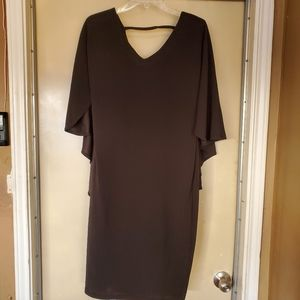 Ashley Stewart Black Midi Ball Dress sz 14/16